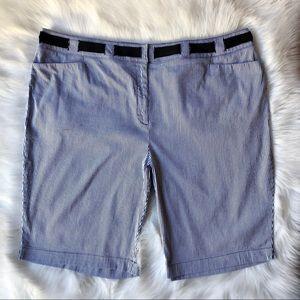 Seersucker Bermuda Shorts (cotton/spandex)